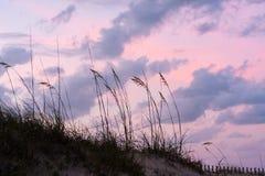 Puesta del sol en St Augustine Beach Imágenes de archivo libres de regalías