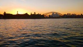 Puesta del sol en Sydney fotos de archivo libres de regalías