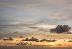 Puesta del sol en Tailandia Imagen de archivo