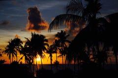 Puesta del sol en Tailandia Foto de archivo