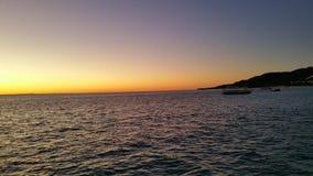 Puesta del sol en Tangalooma Imagen de archivo