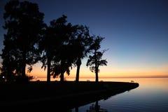 Puesta del sol en Tarpon Springs (FL) Imagen de archivo