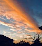 Puesta del sol en Tejas foto de archivo