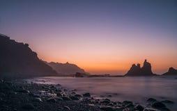 Puesta del sol en Tenerife foto de archivo libre de regalías