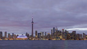Puesta del sol en Toronto almacen de metraje de vídeo