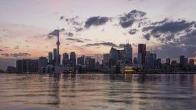 Puesta del sol en Toronto metrajes