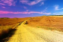 Puesta del sol en Toscana Fotos de archivo
