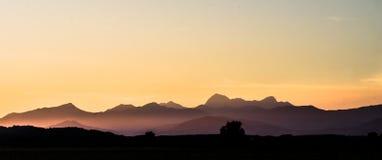 Puesta del sol en Toscana imagen de archivo libre de regalías