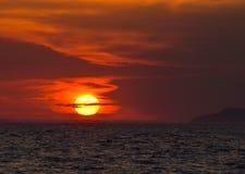 Puesta del sol en Toscana Imágenes de archivo libres de regalías