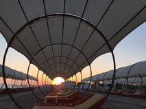 Puesta del sol en Turquía Foto de archivo libre de regalías
