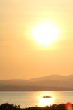 Puesta del sol en una tarde de la primavera Fotos de archivo libres de regalías