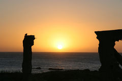 Puesta del sol en Uruguay Fotografía de archivo