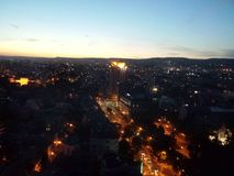 Puesta del sol en Varna Imagenes de archivo