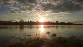 Puesta del sol en Varsovia Fotos de archivo