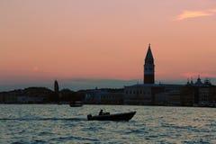 Puesta del sol en Venecia Imagenes de archivo