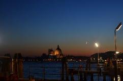 Puesta del sol en Venecia imagen de archivo libre de regalías
