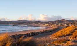Puesta del sol en Ventura California Imagen de archivo