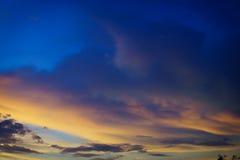 Puesta del sol en verano Imagenes de archivo