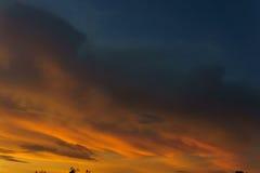Puesta del sol en verano Imágenes de archivo libres de regalías