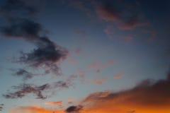 Puesta del sol en verano Fotografía de archivo