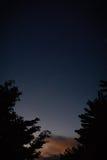 Puesta del sol en verano imagen de archivo