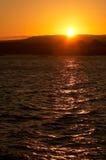 Puesta del sol en Victoria Foto de archivo libre de regalías