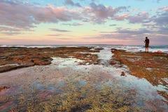 Puesta del sol en Vincentia NSW Australia foto de archivo