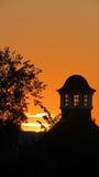 Puesta del sol en Volkspark en Enschede Fotos de archivo