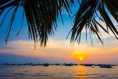 Puesta del sol en Vung Tau, en Vietnam meridional Fotos de archivo