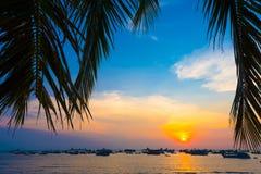 Puesta del sol en Vung Tau, Vietnam Fotografía de archivo libre de regalías
