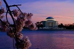 Puesta del sol en Washington DC Imagen de archivo libre de regalías