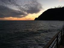 Puesta del sol en yegua del al de Monterosso Fotografía de archivo