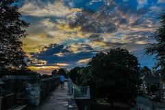 Puesta del sol en York Imagen de archivo libre de regalías