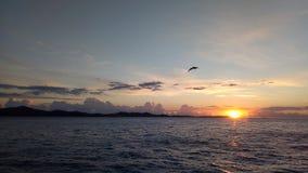 Puesta del sol en Zadar Imagen de archivo libre de regalías