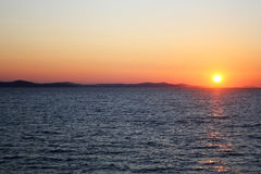 Puesta del sol en Zadar Foto de archivo libre de regalías