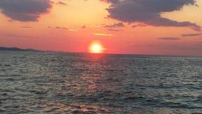 Puesta del sol en Zadar Imagenes de archivo