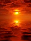 Puesta del sol escénica Fotografía de archivo libre de regalías