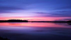 Puesta del sol escandinava Foto de archivo libre de regalías