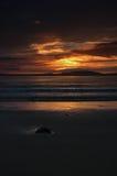 Puesta del sol escocesa de la playa Fotos de archivo libres de regalías