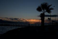 Puesta del sol Esmirna. Imágenes de archivo libres de regalías