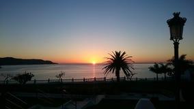 Puesta del sol española Fotos de archivo