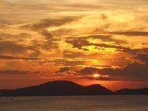 Puesta del sol especial Imagen de archivo libre de regalías