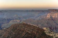Puesta del sol espectacular en el Gran Cañón Fotografía de archivo