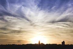 Puesta del sol Estambul Imagen de archivo