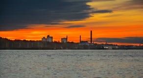 Puesta del sol Estocolmo Fotos de archivo