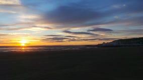 Puesta del sol estupenda de la yegua de Weston Fotos de archivo