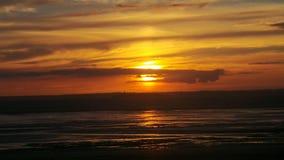Puesta del sol estupenda de la yegua de Weston Imagenes de archivo