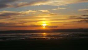 Puesta del sol estupenda de la yegua de Weston Fotografía de archivo libre de regalías