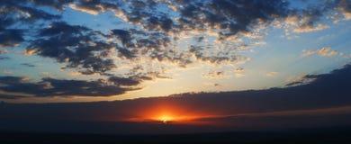 Puesta del sol excelente Imagen de archivo libre de regalías
