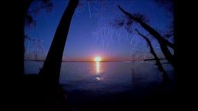 Puesta del sol fabulosa almacen de metraje de vídeo
